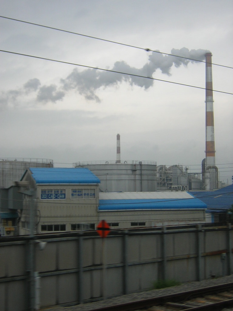 View of industrial development along the old Tokaido Highway