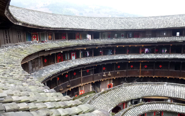 Hakka earth house, Fujian. Photo: Brian Lander.