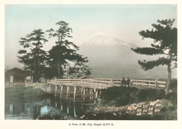 A view of Mt. Fuji, photogravure, NYPL