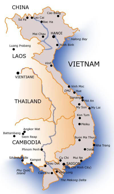 Outline Of Courses - World map in vietnamese language
